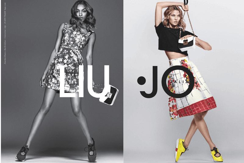 Karlie Kloss y Jourdan Dunn imagen de Liu Jo para la nueva colección SS16