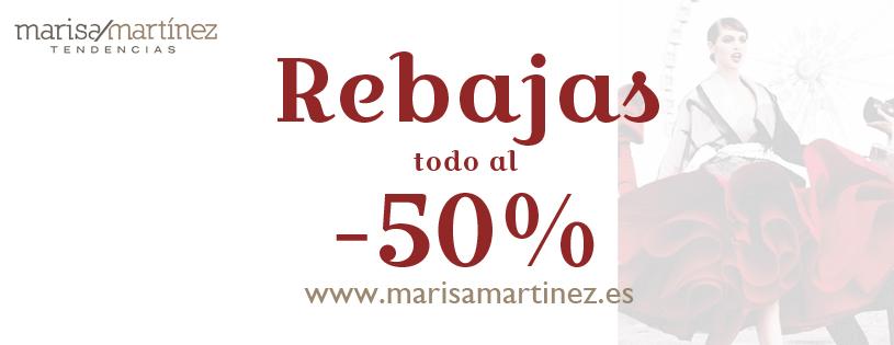 Rebajas al 50% en Marisa Martinez