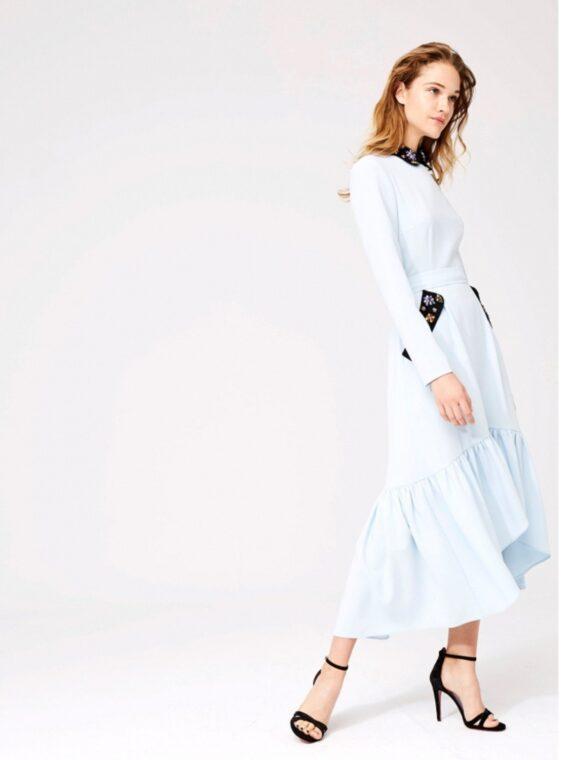 vestido-azul-falda-asimetrica-con-cuello-joya2-DOLORES PROMESAS