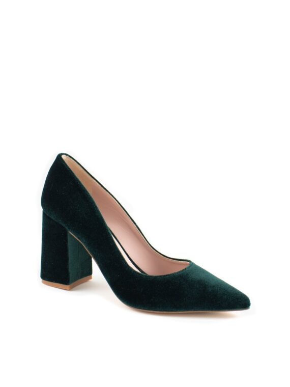 STILETTO-TERCIOPELO-VERDE-BOTELLA-TACON-ANCHO-MARISA-MARTINEZ