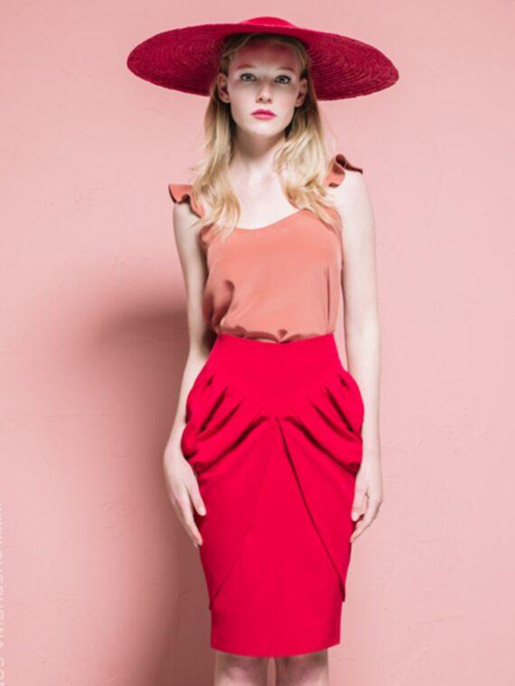 falda-layla-color-rojo-total-loock-cherubina