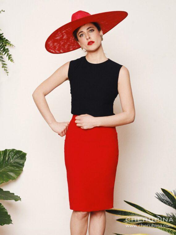 falda-texas-color-rojo-vista-por-delante-cherubina