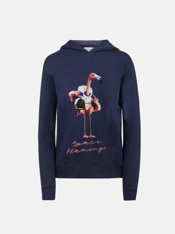 sudadera-capucha-azul-space-flamingo